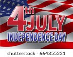 independence day 4 th july.... | Shutterstock .eps vector #664355221