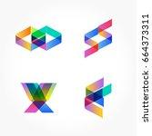 marble trendy illustration... | Shutterstock .eps vector #664373311