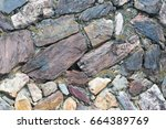 stone wall rough texture...   Shutterstock . vector #664389769