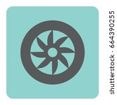 wheel car vector icon. | Shutterstock .eps vector #664390255