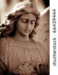 Weathered Young Angel In Sepia...