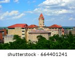 buildings on the university of... | Shutterstock . vector #664401241
