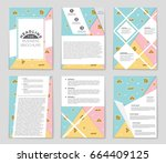 abstract vector layout... | Shutterstock .eps vector #664409125