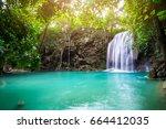 Erawan Waterfall In Tropical...