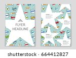 abstract vector layout... | Shutterstock .eps vector #664412827