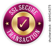 gold ssl secure transaction... | Shutterstock .eps vector #664414375