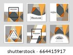 abstract vector layout... | Shutterstock .eps vector #664415917