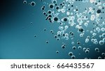 3d metal sphere render on the... | Shutterstock . vector #664435567