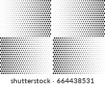 abstract halftone dotted... | Shutterstock .eps vector #664438531