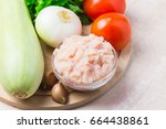 various raw ingredients for...