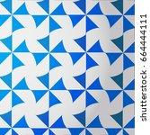 blue white turbine pattern... | Shutterstock .eps vector #664444111