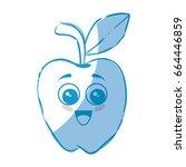 apple fruit icon | Shutterstock .eps vector #664446859