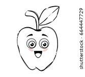 apple fruit icon | Shutterstock .eps vector #664447729