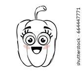 pepper vegetable icon | Shutterstock .eps vector #664447771