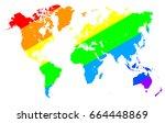 gay pride world map. gay pride...   Shutterstock .eps vector #664448869