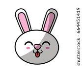 kawaii animal icon | Shutterstock .eps vector #664451419