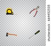 realistic forceps  hatchet ...   Shutterstock .eps vector #664452535