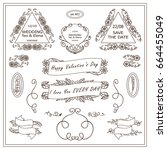 vector vintage sign  symbols... | Shutterstock .eps vector #664455049