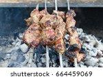 Shish Kebab On Coals