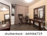 dressing room with lots of... | Shutterstock . vector #664466719