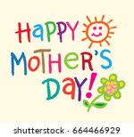 happy mother's day banner.... | Shutterstock .eps vector #664466929