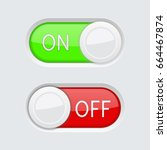 toggle switch buttons. green...
