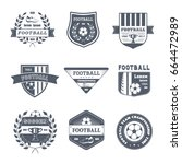 game of football   vector set... | Shutterstock .eps vector #664472989