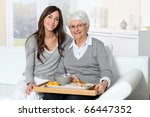 elderly woman and home carer... | Shutterstock . vector #66447352