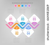 infographic template of five... | Shutterstock .eps vector #664481869