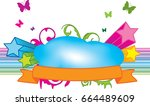 rainbow flyer | Shutterstock .eps vector #664489609