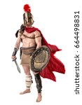 ancient warrior or gladiator... | Shutterstock . vector #664498831