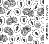 seamless nature pattern with... | Shutterstock .eps vector #664499041