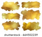 gold foil watercolor texture... | Shutterstock . vector #664502239