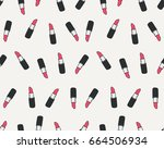 lipstick seamless vector pattern   Shutterstock .eps vector #664506934