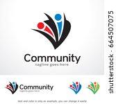 community logo template design... | Shutterstock .eps vector #664507075