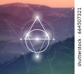 sacred geometry illustration... | Shutterstock .eps vector #664507321