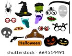 photo booth props and... | Shutterstock .eps vector #664514491