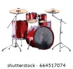 Drum Set. Isolated On White...
