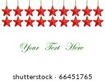 red stars decorations isolated on white background for message - stock photo