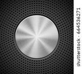 black technology background... | Shutterstock .eps vector #664536271