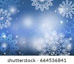 christmas background.... | Shutterstock .eps vector #664536841