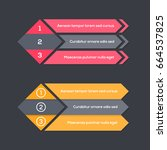 infographics template with... | Shutterstock .eps vector #664537825