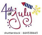 4th of july   Shutterstock . vector #664538665