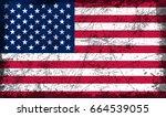 grunge american flag.vector... | Shutterstock .eps vector #664539055