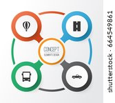shipment icons set. collection... | Shutterstock .eps vector #664549861