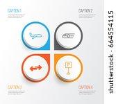 transportation icons set.... | Shutterstock .eps vector #664554115