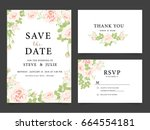 wedding invitation card... | Shutterstock .eps vector #664554181