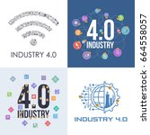 industry 4.0 concept business... | Shutterstock .eps vector #664558057