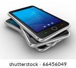 black mobile smart phone... | Shutterstock . vector #66456049