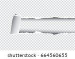 ripped paper black    vector... | Shutterstock .eps vector #664560655
